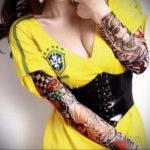 тату рукав женский 18.11.2019 №048 -tattoo sleeve women- tatufoto.com