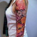 тату рукав женский 18.11.2019 №050 -tattoo sleeve women- tatufoto.com
