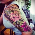 тату рукав женский 18.11.2019 №052 -tattoo sleeve women- tatufoto.com
