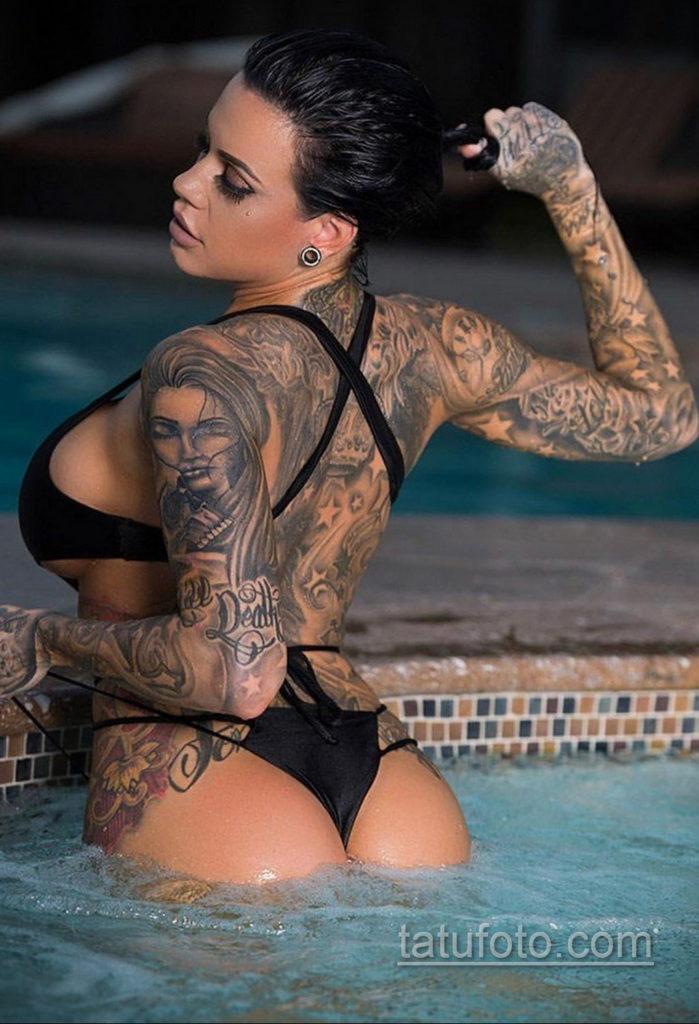 фото красивая девушка с тату 24.11.2019 №050 -beautiful girl with a tattoo- tatufoto.com