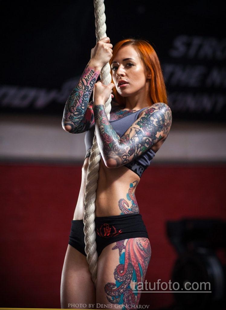 фото красивая девушка с тату 24.11.2019 №097 -beautiful girl with a tattoo- tatufoto.com