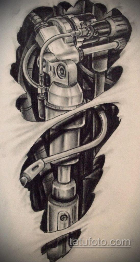 Эскизы тату в стиле биомеханика