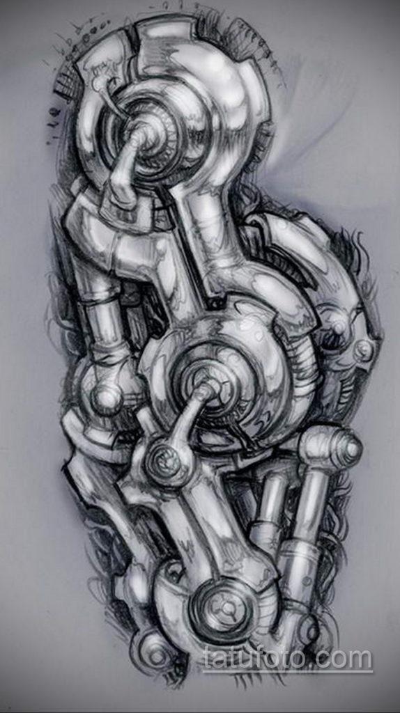 эскиз тату биомеханика 28.11.2019 №1024 -sketch biomechanics tattoo- tatufoto.com