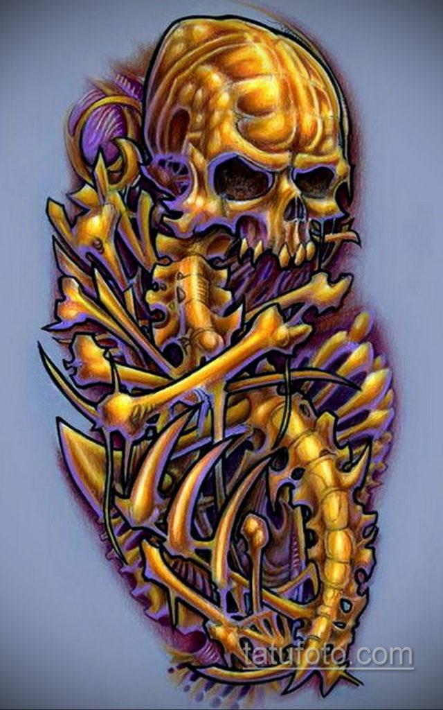 эскиз тату биомеханика 28.11.2019 №1039 -sketch biomechanics tattoo- tatufoto.com