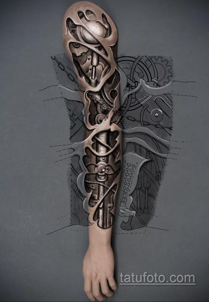 эскиз тату биомеханика 28.11.2019 №1044 -sketch biomechanics tattoo- tatufoto.com
