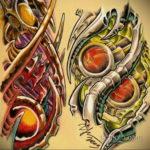эскиз тату биомеханика 28.11.2019 №1054 -sketch biomechanics tattoo- tatufoto.com
