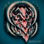 эскиз тату биомеханика 28.11.2019 №1059 -sketch biomechanics tattoo- tatufoto.com