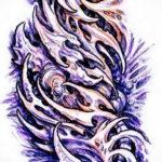эскиз тату биомеханика 28.11.2019 №1071 -sketch biomechanics tattoo- tatufoto.com