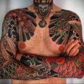 японский рукав тату 26.11.2019 №066 -japanese sleeve tattoo- tatufoto.com