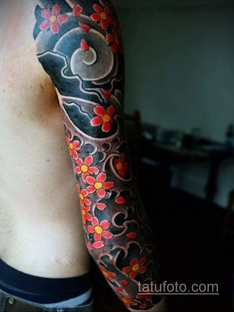 японское тату на руке 26.11.2019 №093 -japanese arm tattoo- tatufoto.com