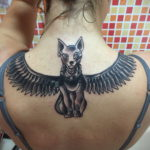 пример рисунка для тату богиня Бастет 02.12.2019 №004 -Bastet tattoo- tatufoto.com