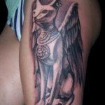 пример рисунка для тату богиня Бастет 02.12.2019 №005 -Bastet tattoo- tatufoto.com