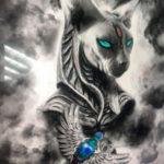 пример рисунка для тату богиня Бастет 02.12.2019 №009 -Bastet tattoo- tatufoto.com