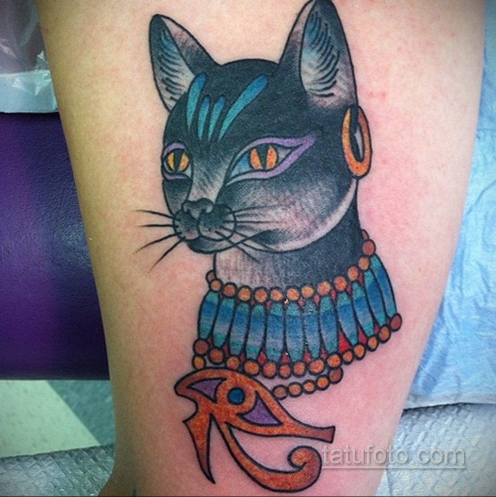 пример рисунка для тату богиня Бастет 02.12.2019 №321 -Bastet tattoo- tatufoto.com