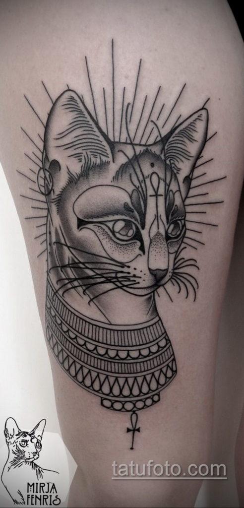 пример рисунка для тату богиня Бастет 02.12.2019 №403 -Bastet tattoo- tatufoto.com