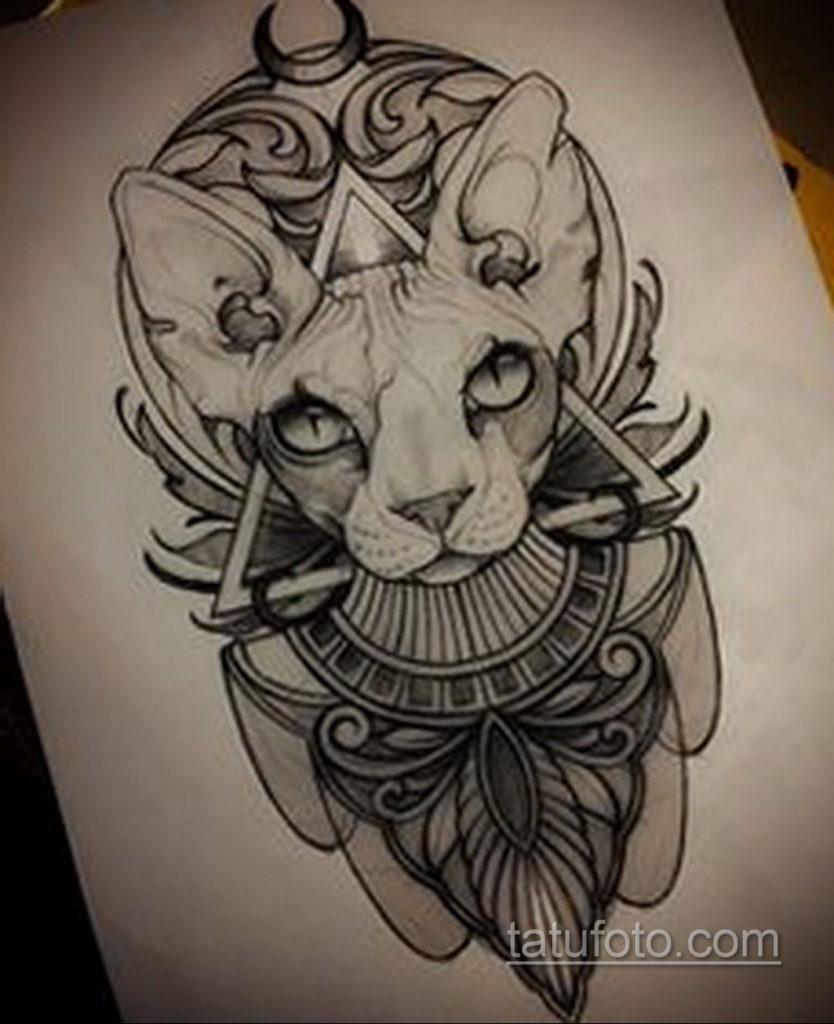 пример рисунка для тату богиня Бастет 02.12.2019 №416 -Bastet tattoo- tatufoto.com