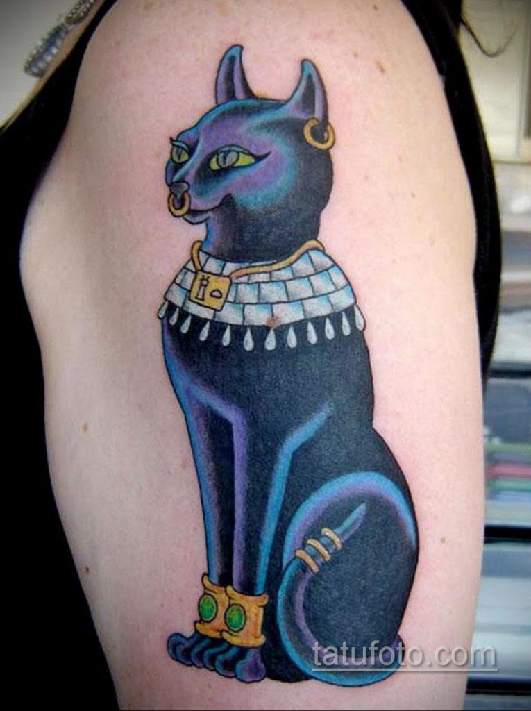 пример рисунка для тату богиня Бастет 02.12.2019 №502 -Bastet tattoo- tatufoto.com