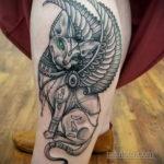 пример рисунка для тату богиня Бастет 02.12.2019 №604 -Bastet tattoo- tatufoto.com