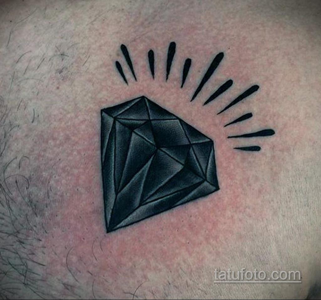 тату диамант для мужчин 02.12.2019 №006 -diamond tattoo for men- tatufoto.com
