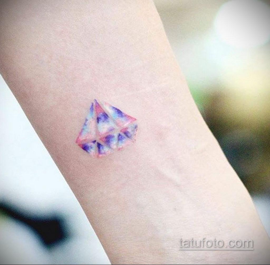 тату диамант на запястье 02.12.2019 №017 -diamond wrist tattoo- tatufoto.com