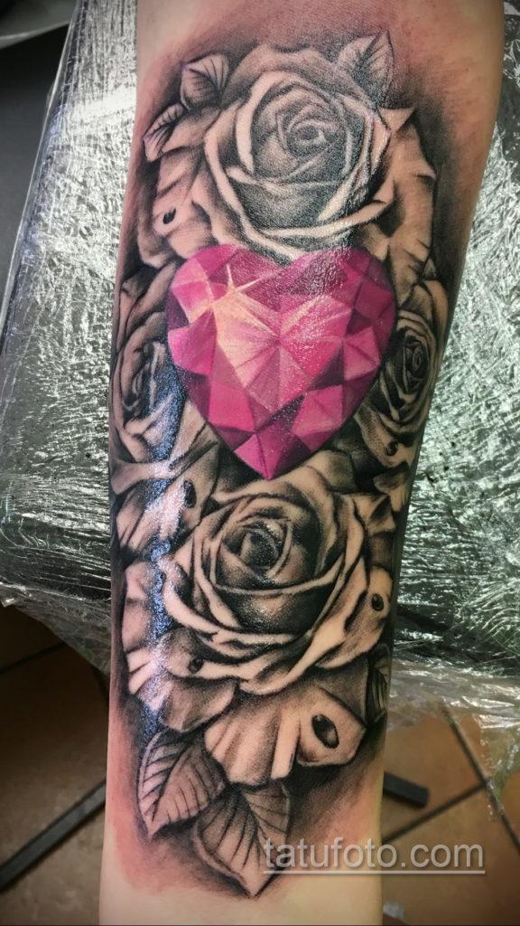 тату диамант на руке 02.12.2019 №066 -diamond tattoo on the arm- tatufoto.com