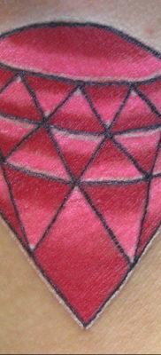 тату диамант на шее 02.12.2019 №035 -diamond neck tattoo- tatufoto.com