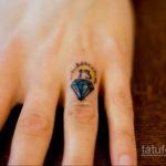 тату для девушек диамант 02.12.2019 №019 -tattoo for girls diamond- tatufoto.com