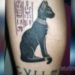 тату египетская богиня кошка 02.12.2019 №707 -Bastet tattoo- tatufoto.com
