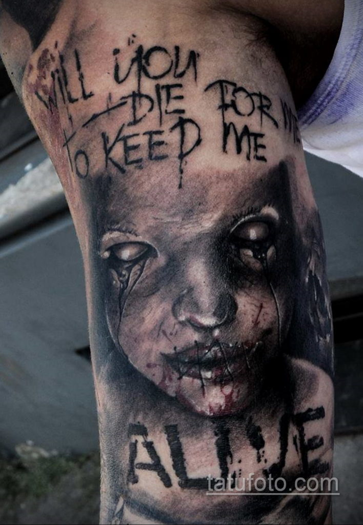 тату хоррор реализм 12.12.2019 №015 -horror tattoo realism- tatufoto.com