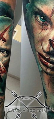тату хоррор реализм 12.12.2019 №019 -horror tattoo realism- tatufoto.com