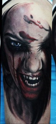тату хоррор реализм 12.12.2019 №027 -horror tattoo realism- tatufoto.com