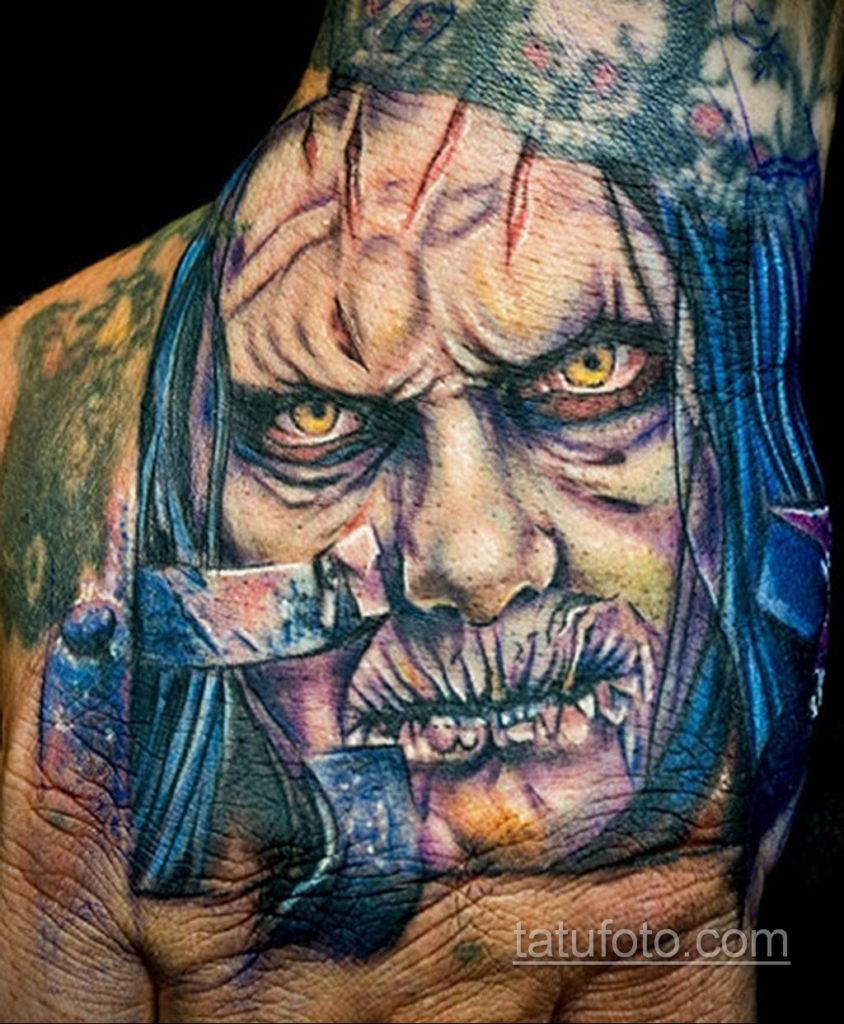 тату хоррор реализм 12.12.2019 №029 -horror tattoo realism- tatufoto.com