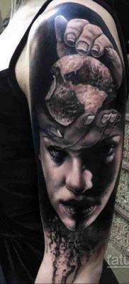 тату хоррор реализм 12.12.2019 №035 -horror tattoo realism- tatufoto.com