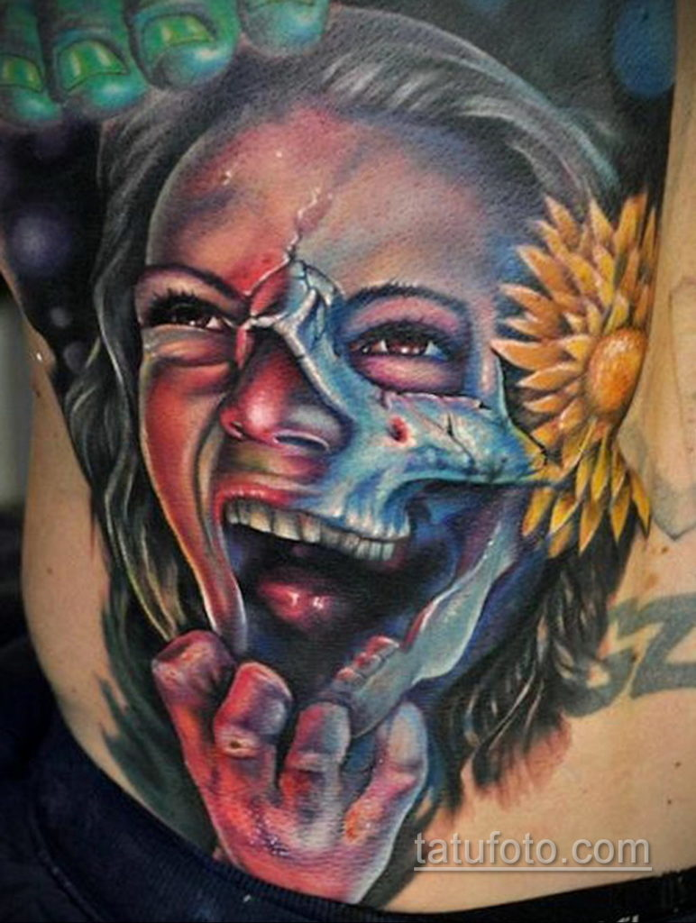 тату хоррор реализм 12.12.2019 №039 -horror tattoo realism- tatufoto.com
