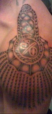 фото тату эполет на плече (погон) 10.12.2019 №076 -tattoo epaulettes- tatufoto.com