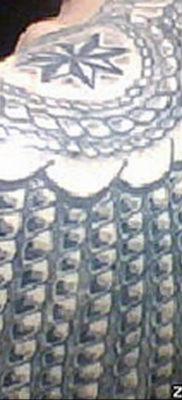 фото тату эполет на плече (погон) 10.12.2019 №085 -tattoo epaulettes- tatufoto.com
