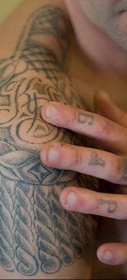 фото тату эполет на плече (погон) 10.12.2019 №094 -tattoo epaulettes- tatufoto.com
