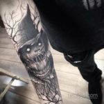 хоррор тату на руке 12.12.2019 №008 -horror tattoo on the arm- tatufoto.com