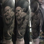 хоррор тату на руке 12.12.2019 №009 -horror tattoo on the arm- tatufoto.com