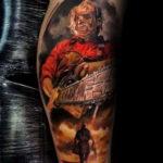 хоррор тату на руке 12.12.2019 №027 -horror tattoo on the arm- tatufoto.com