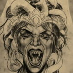 хоррор тату эскизы 12.12.2019 №009 -horror tattoo sketches- tatufoto.com