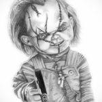хоррор тату эскизы 12.12.2019 №021 -horror tattoo sketches- tatufoto.com
