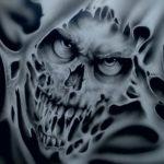 хоррор тату эскизы 12.12.2019 №025 -horror tattoo sketches- tatufoto.com