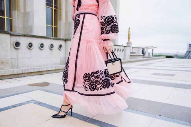 Платье-вышиванка - как и с чем носить - фото