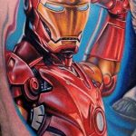 Тату супергерой Железный человек 15.01.2020 №018 -Marvel Tattoo- tatufoto.com