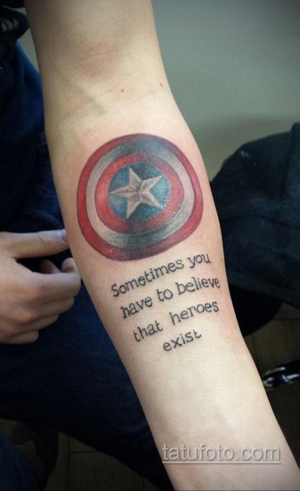 Тату супергерой Капитан Америка 15.01.2020 №018 -Marvel Tattoo- tatufoto.com