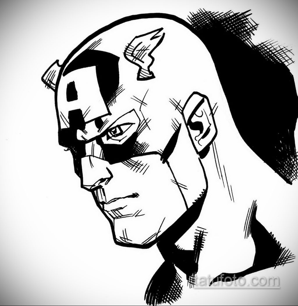 Тату супергерой Капитан Америка 15.01.2020 №030 -Marvel Tattoo- tatufoto.com