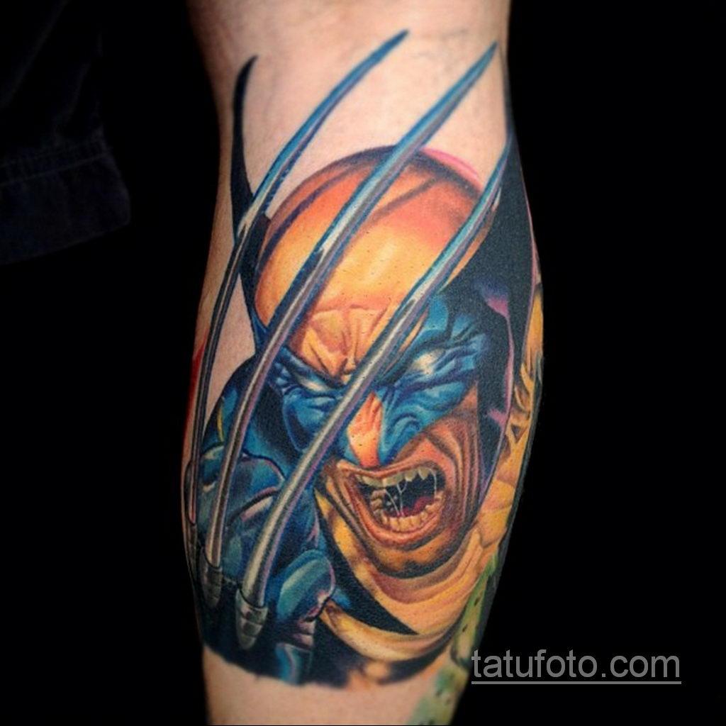 Тату супергерой Росомаха 15.01.2020 №004 -Marvel Tattoo- tatufoto.com
