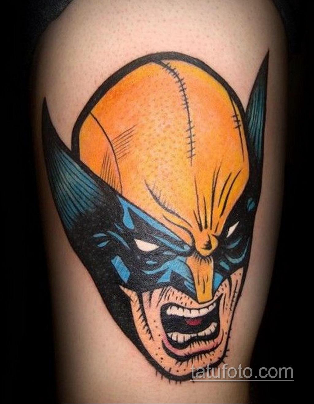 Тату супергерой Росомаха 15.01.2020 №005 -Marvel Tattoo- tatufoto.com