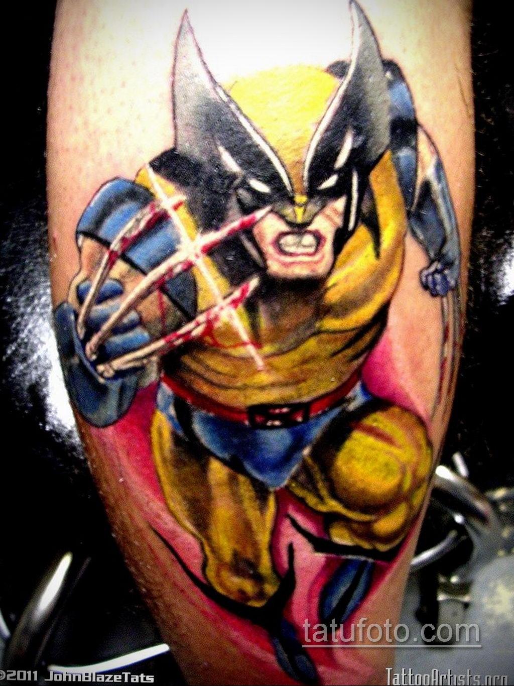 Тату супергерой Росомаха 15.01.2020 №010 -Marvel Tattoo- tatufoto.com